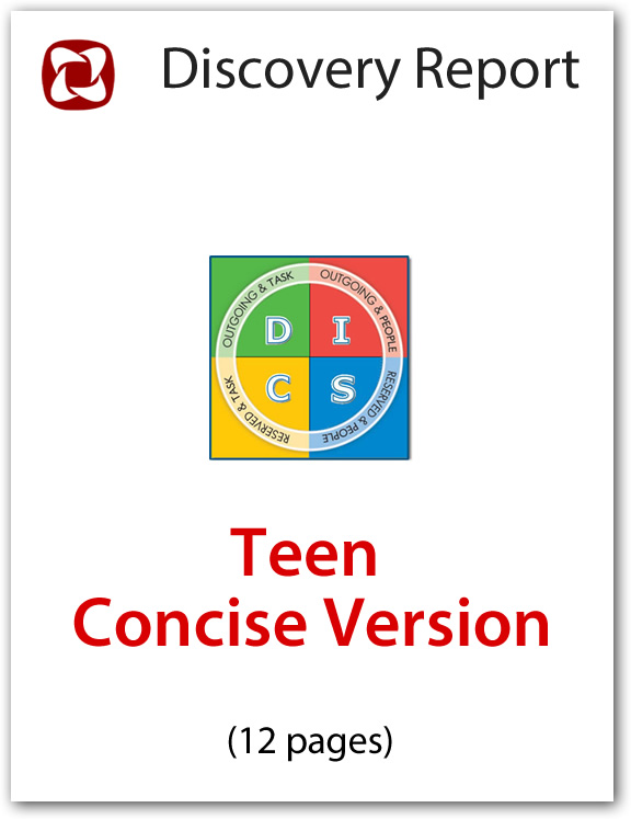 Teen DISC Personality Profile - Concise Discovery Report