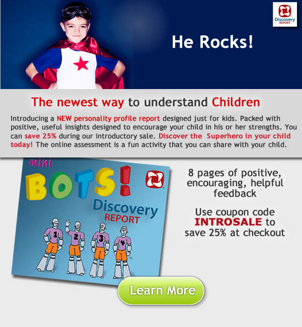 personality test for kids and children
