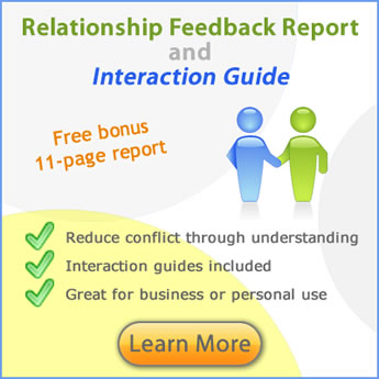 Relationship Feedback - disc personality interaction guide